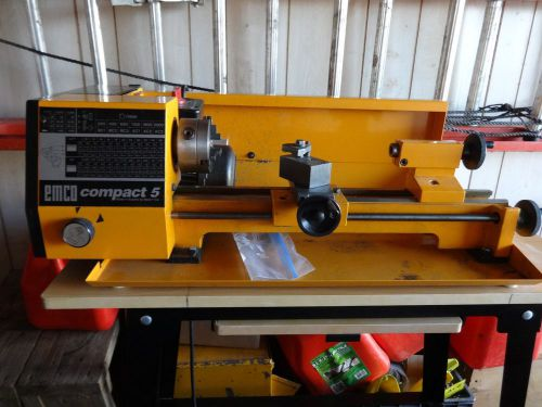 Emco Compact 5, Lathe w/ Milling Attachment, Machining