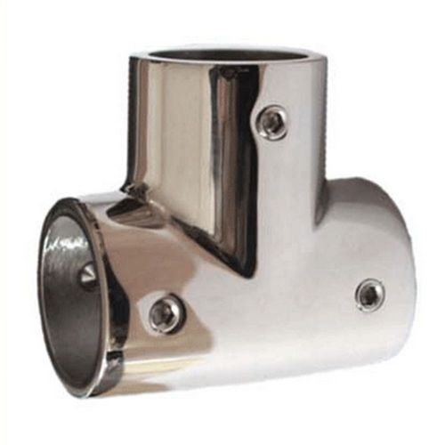 90 degree stainless steel tee joint marine yacht 22mm
