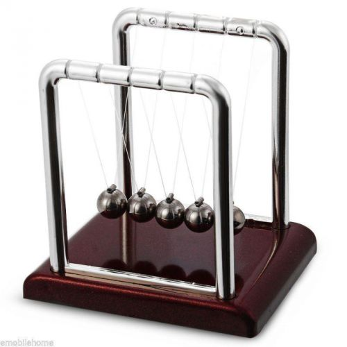 Newton's cradle fun steel balance ball physics science desk toy accessory gift
