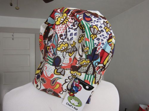 Chef hat bright fun print cap by two lumps of sugar one size fits most