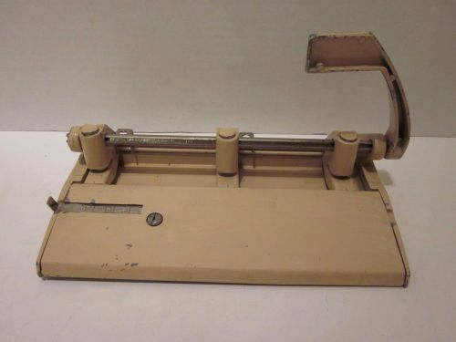 "Foothill 310 adjustable heavy-duty three-hole punch 13/32"" holes beige vintage"