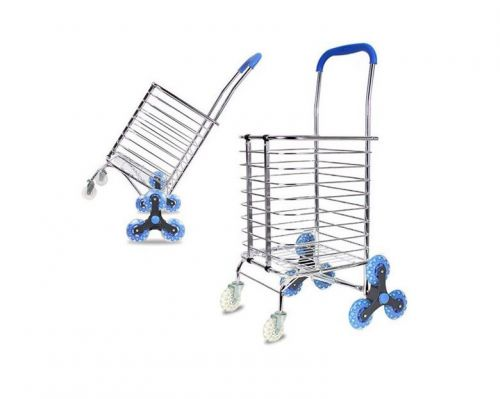 Grocery cart folding stair climbing cart grocery shopping laundry utility cart