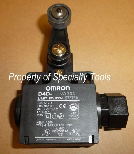 Omron d4d-6a20n industrial limit switch 2 nc roller actuator automation robotics