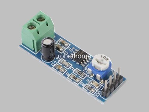 LM386 based stereo audio amplifier with digital volume control