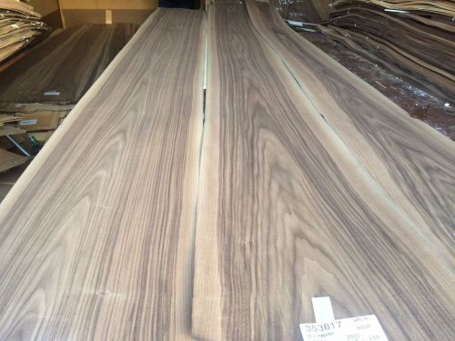 Wood walnut veneer 115x10,12,15 ,total 3 pcs  raw veneer n1264