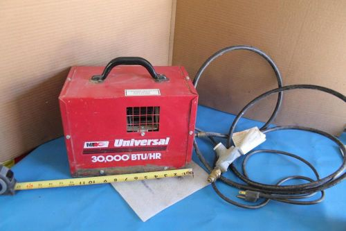 Nec forced air propane construction heater 30,000 btu 30fas universal