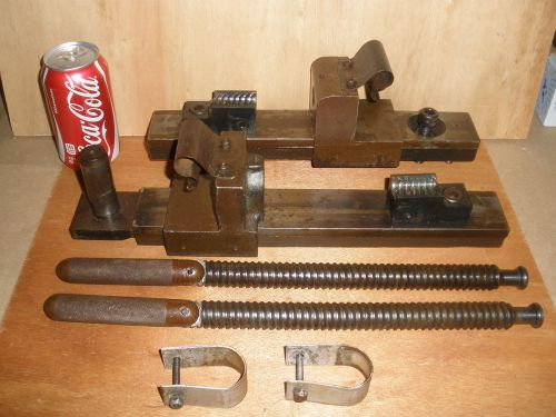 Complete parker h824 tubing bender vise clamp holder for radius die slide blocks