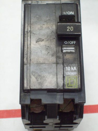 SQUARE D QO220 BREAKER 2 POLE/ 20 AMP / 120/240 VAC USED, US $7.00 – Picture 1