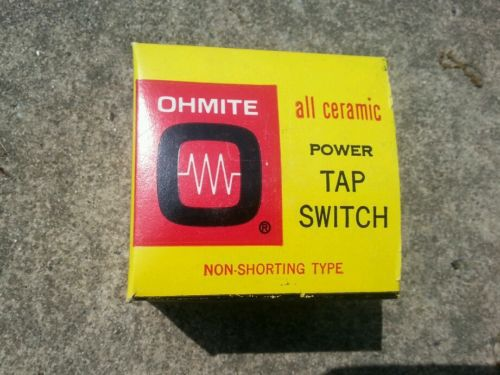 OHMITE; 312-5; Rotary Power; Tap Switch; 30A; 300VAC6; 150 Volt Between Taps;NOS � Picture 2