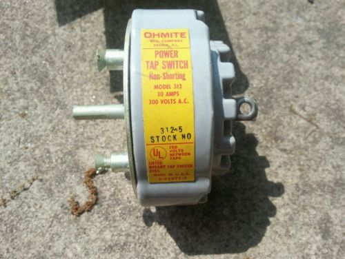 OHMITE; 312-5; Rotary Power; Tap Switch; 30A; 300VAC6; 150 Volt Between Taps;NOS � Picture 3