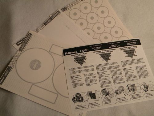 fellowes neato cd and jewel case labels mixed lot tzsupplies com
