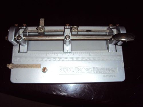 Vintage gbc bates hummer heavy duty 3 hole punch made in taiwan