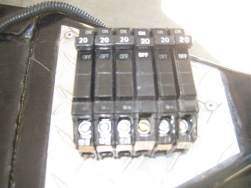 Ge thqp120- 20 amp 120 volt breakers(lot of 6) price reduced !!