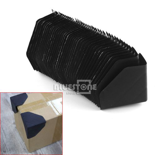 Black shipping carton plastic corner protector shipping edge cover 40pcs pack