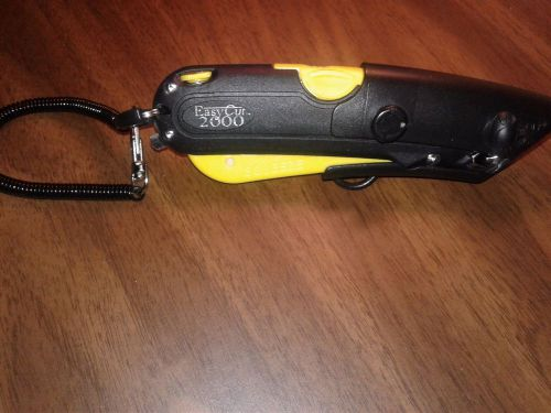 Easy Cut 2000 Safety Box Cutter Knife + Holster & Lanyard YELLOW - AMAZING KNIFE – Picture 1