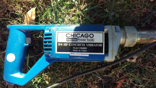 New chicago electric 3/4 hp concrete vibrator 13,000 vibrates per minute
