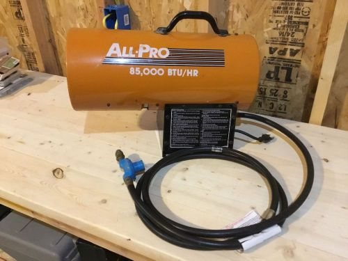 All pro   85,000 propane forced air heater for parts or repair