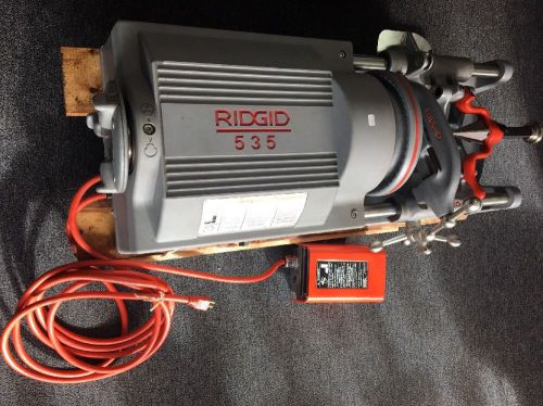 Brand new ridgid � 535 pipe threader & 150a cart 93287