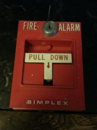 Simplex Manual Pull Station (Used, No Key) school business man cave