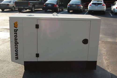 2012 broadcrown 13kw diesel generator - new surplus