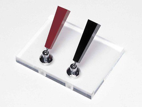 Dpd-2000f platinum desk pen stand acrylic for two