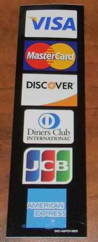 credit card logo decal visa mastercard discover american express