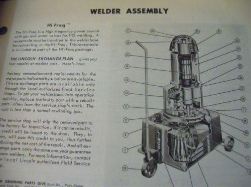 Lincoln Welder Operating Manual IM-132-F Lincwelder DC-250-MK