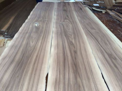 Wood walnut veneer 114x9,11,12 ,total 3 pcs  raw veneer n1253