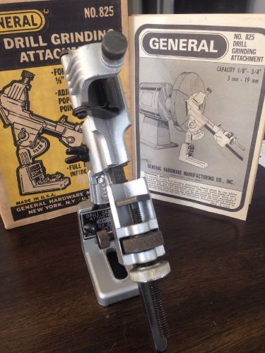 General tools # 825 drill grinding & sharpening attachment $20 free ship