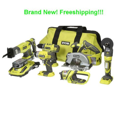 Ryobi p884 one+ 18-volt lithium-ion ultimate combo kit 6-tool new