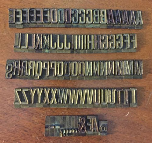 Mystery brass type�1� upper-case alphabet & symbols�to make peel-off stickers?