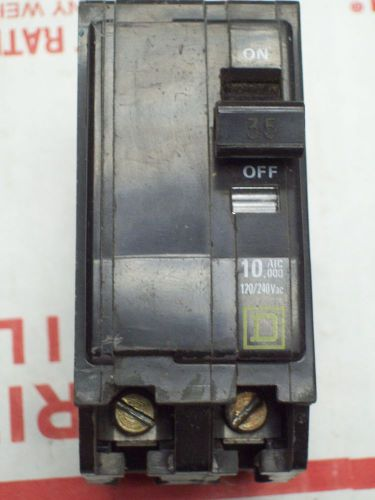 SQUARE D QO235 BREAKER 2 POLE/ 35 AMP / 120/240 VAC USED, US $9.00 � Picture 1