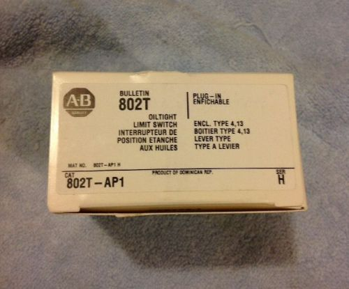 New!! allen bradley 802t-ap1 ser h oil tight limit switch