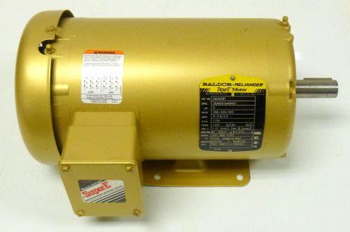 Baldor reliance super e motor em3558t 2hp 208 230 460v 6 5 for Baldor reliance super e motor
