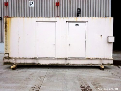 Used- caterpillar 400 kw standby diesel generator set. cat 3406 engine rated 587