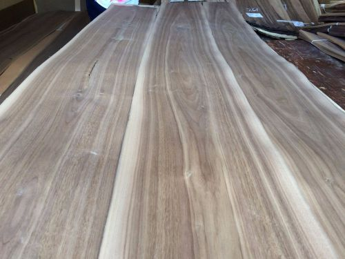 Wood walnut veneer 111x10,11,13 ,total 3 pcs  raw veneer n1257