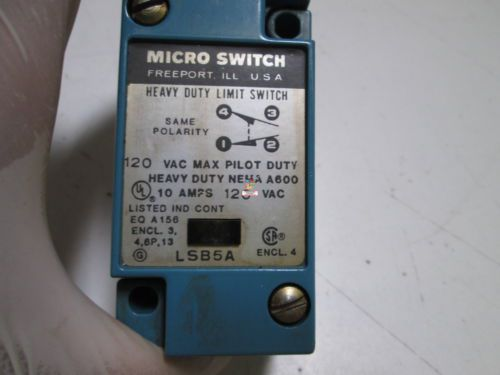 MICROSWITCH LIMIT SWITCH LSB5A *USED*, US $34.00 – Picture 2