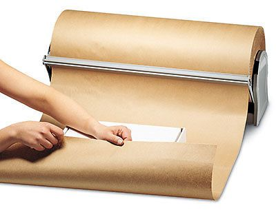 "36"" x 900' kraft wrapping paper on a roll (40 lb.) (1 roll)"