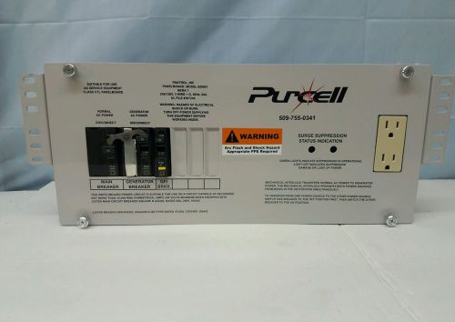 New purcell - generator transfer switch panel board 240/120 volts 60amp square d