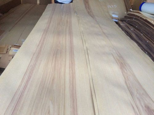 Wood hickory  veneer 120x12,17,20,21 ,total 4 pcs  raw veneer n1276..
