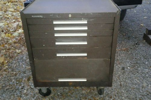 Vintage kennedy 5 drawer roller cabinet tool box/chest bottom no.275 ~ machinist