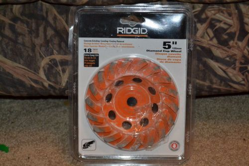 "Rigid diamond cup 5"" grinding wheel **price drop**"