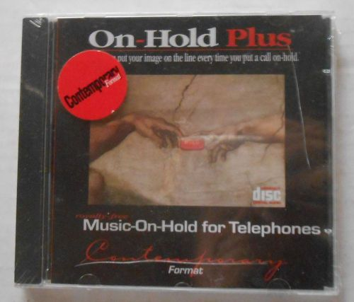 On hold plus moh cd for telephone pbx phone answering system royalty free music