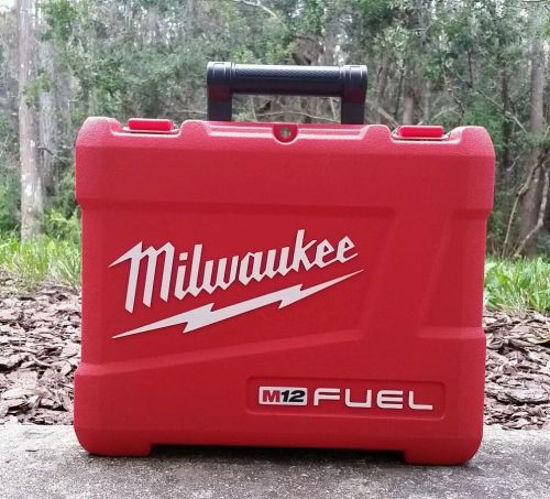 "New milwaukee m12 fuel empty case for 2404-22 1/2"" hammerdrill, case only!"