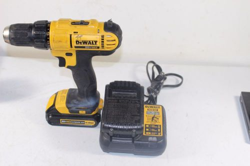 Dewalt dcd771 drill with charger and 2 batteries