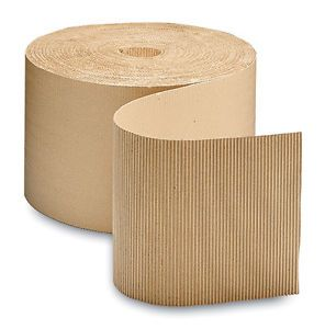 "48"" x 250' single face corrugated wrap on a roll (1 roll) (freight only)"