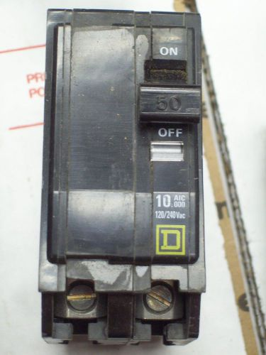 SQUARE D QO250 BREAKER 2 POLE/ 50 AMP / 120/240 VAC USED, US $9.00 � Picture 1