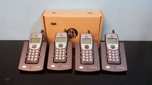Lot of 4 cisco cp-7920 wireless ip phones w/ 4 charging stations