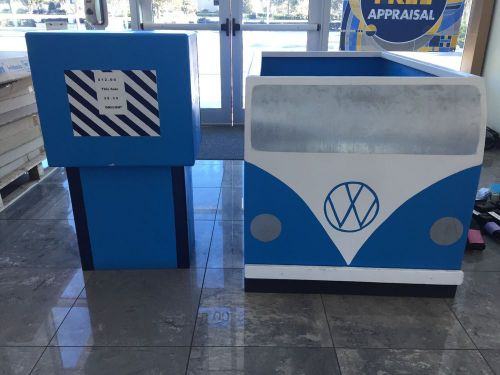 Large donation box vw bus and gas pump
