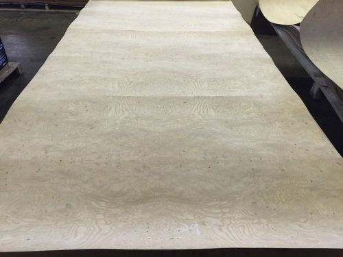 "Wood veneer ash burl 46x96 1 piece 20mil paper backed ""exotic"" was 29"